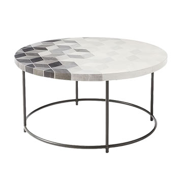 mosaic tiled concrete coffee table